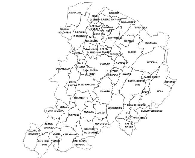 Provincia Bologna Cartina.Enti Locali In Rete L Anagrafica Dell Amministrazione Emiliano Romagnola Autonomie Regione Emilia Romagna